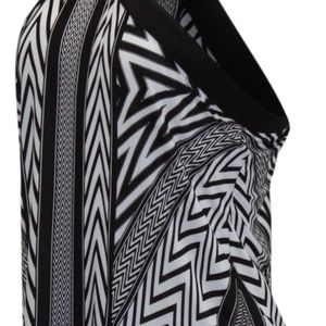 INC International Concepts Tops - INC Striped Halter Sleeveless Causal Blouse Black